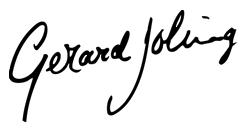 Handtekening Gerard Joling